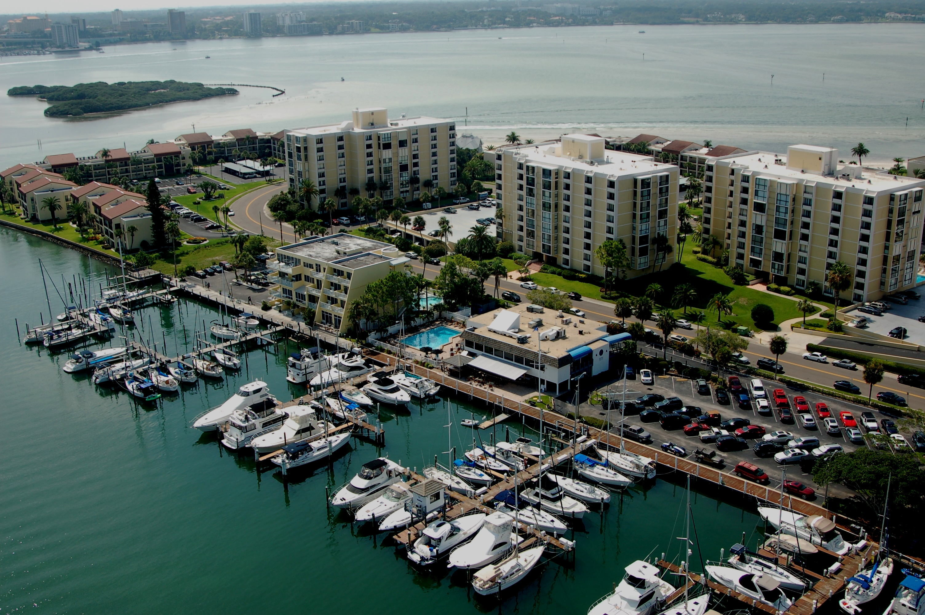 Clearwater Yacht Club Aerial