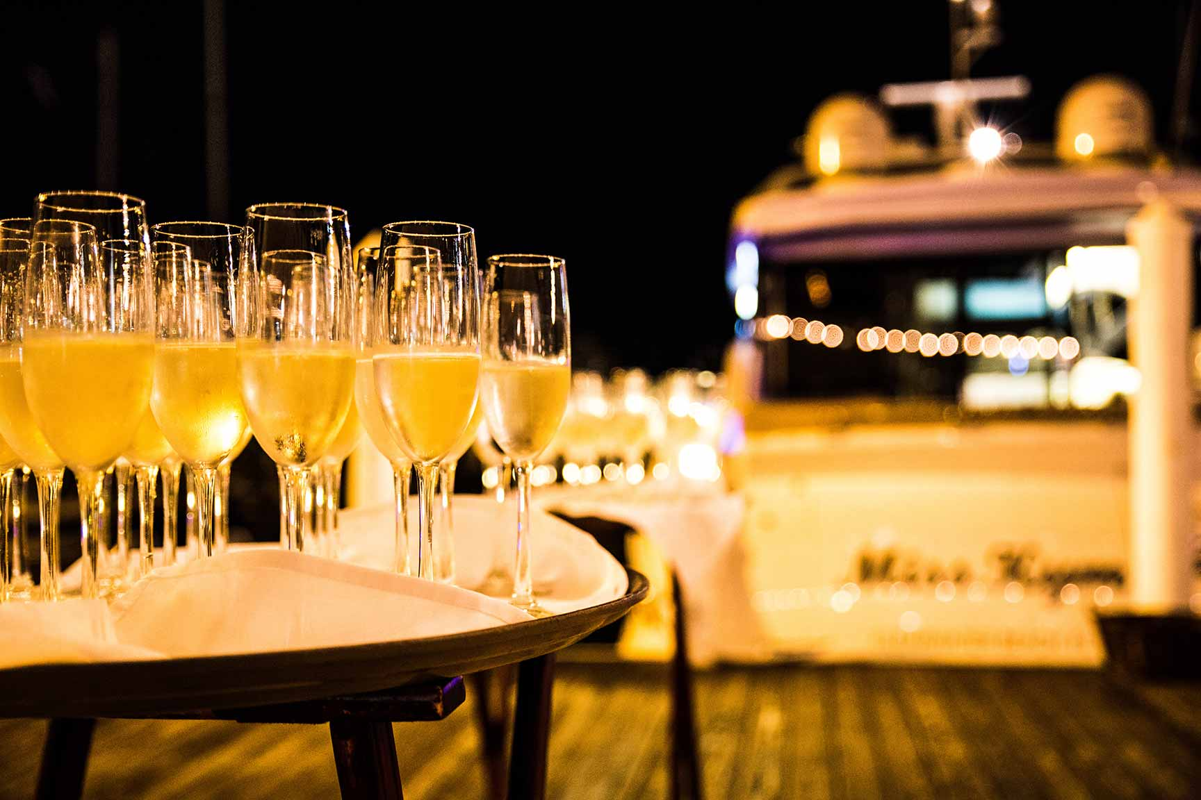 Champagne on the Dock
