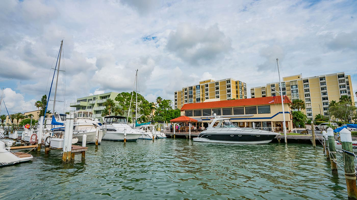 Boats in Clearwater Yacht Club Marina